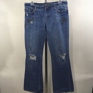 American Eagle Jeans Distressed Hipster Fit Flare